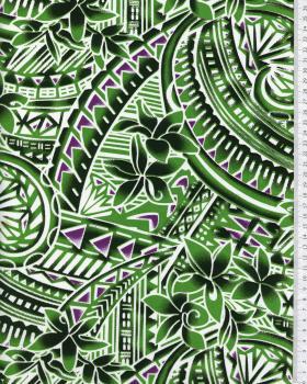Tissu Polynésien MANOA Vert - Tissushop