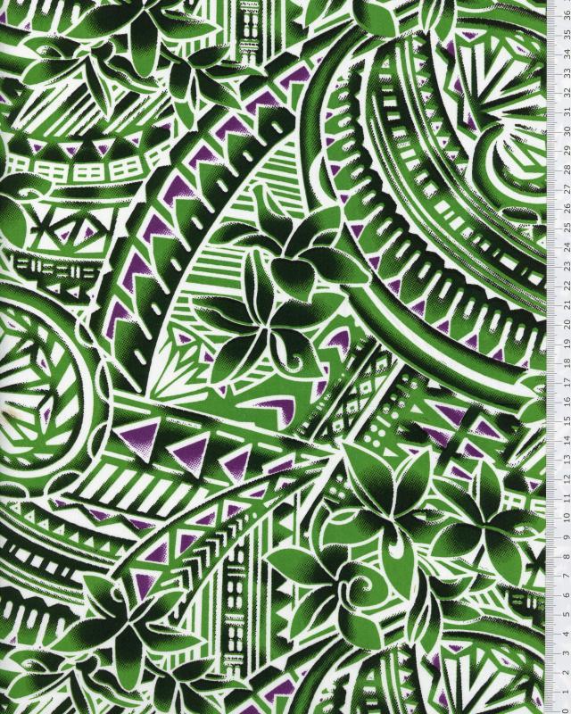 Polynesian Fabric MANOA Green - Tissushop