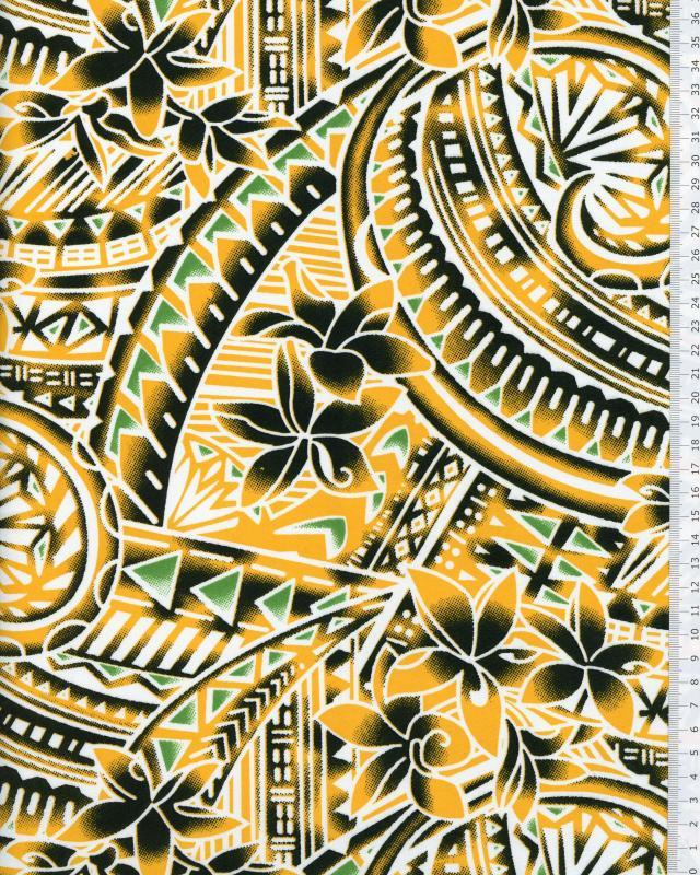 Polynesian Fabric MANOA Yellow - Tissushop