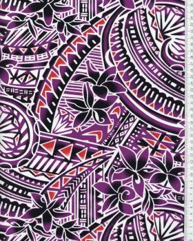 Tissu Polynésien MANOA Violet - Tissushop