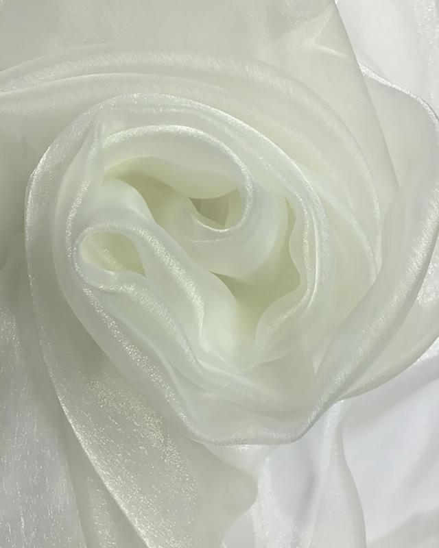 Organza Uni Blanc Nacré - Tissushop