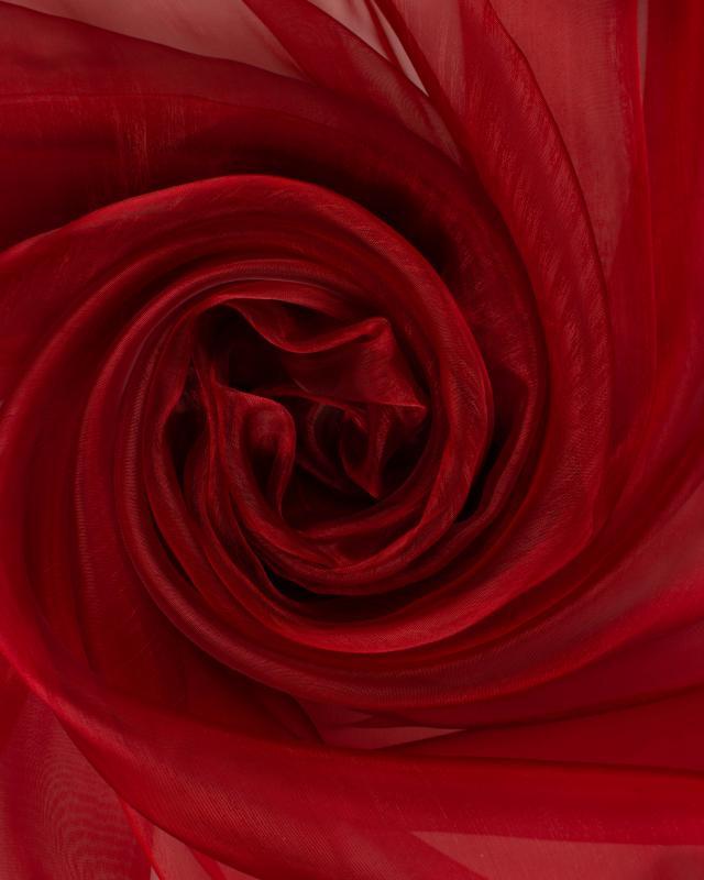 Organza Uni Rouge Brique - Tissushop