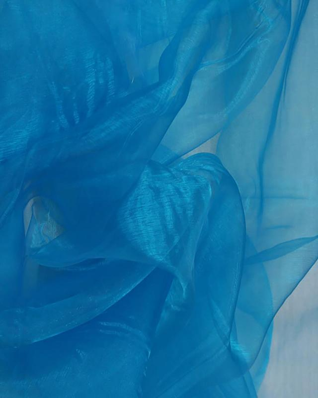 Organza Uni Bleu Turquoise - Tissushop