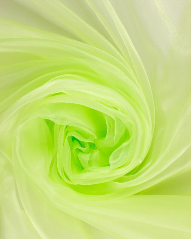 Organza Uni Vert Spring - Tissushop