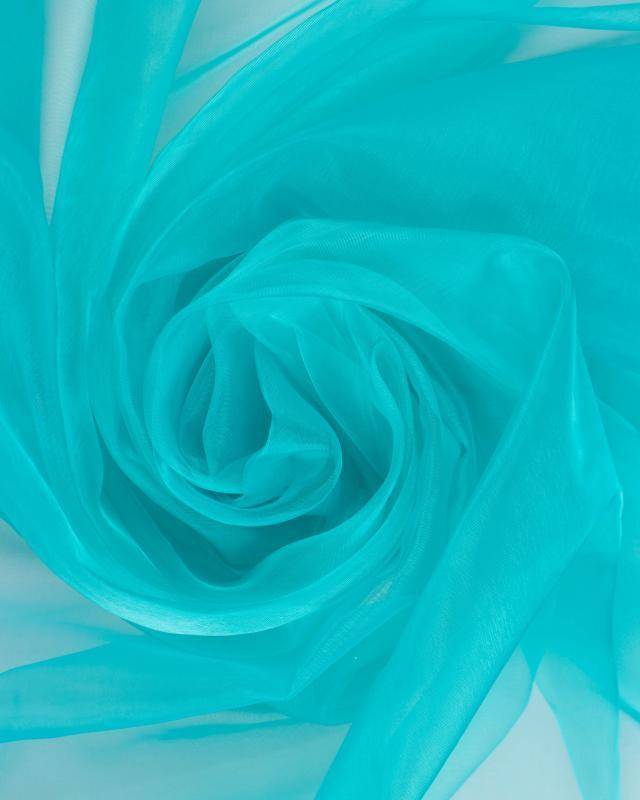 Organza Uni Vert Turquoise - Tissushop