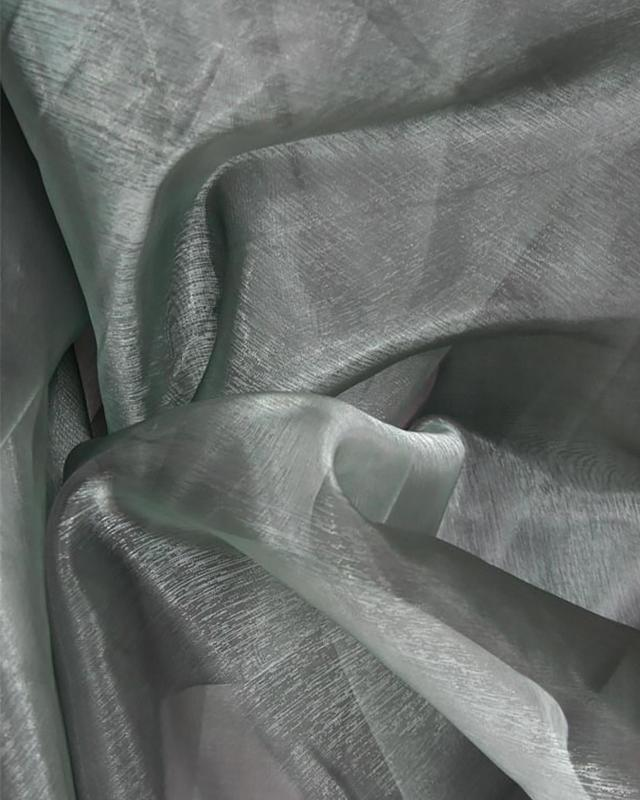 Plain Organza Grey - Tissushop