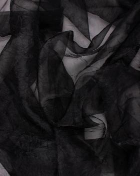 Creased Organza Black - Tissushop