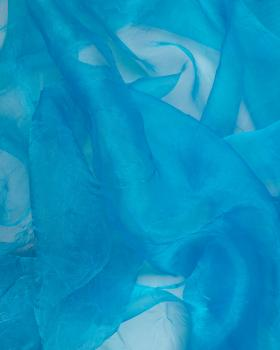Creased Organza Turquoise Blue - Tissushop