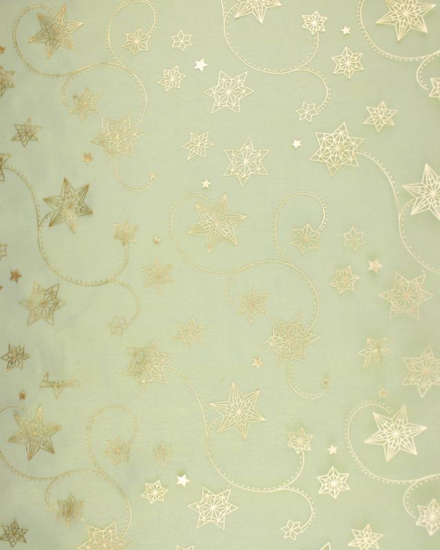 Shooting Star Organza Spring Green - Tissushop