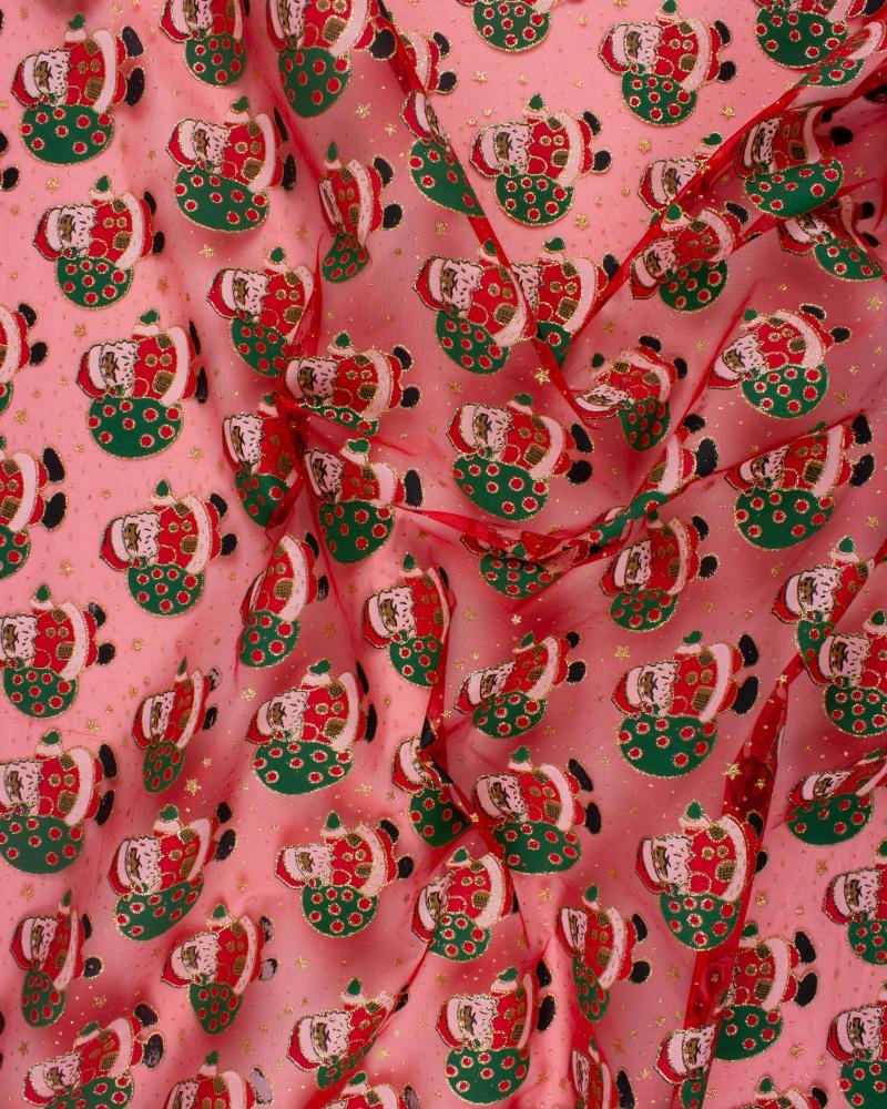 Organza Père Noel Rouge - Tissushop