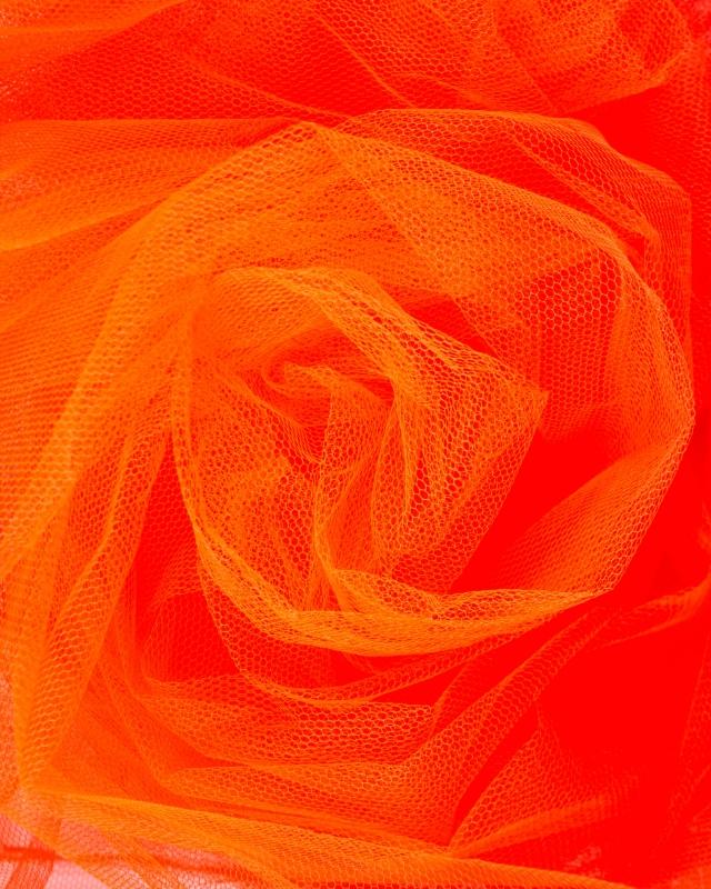 Stiff Mesh Fluorescent Orange - Tissushop