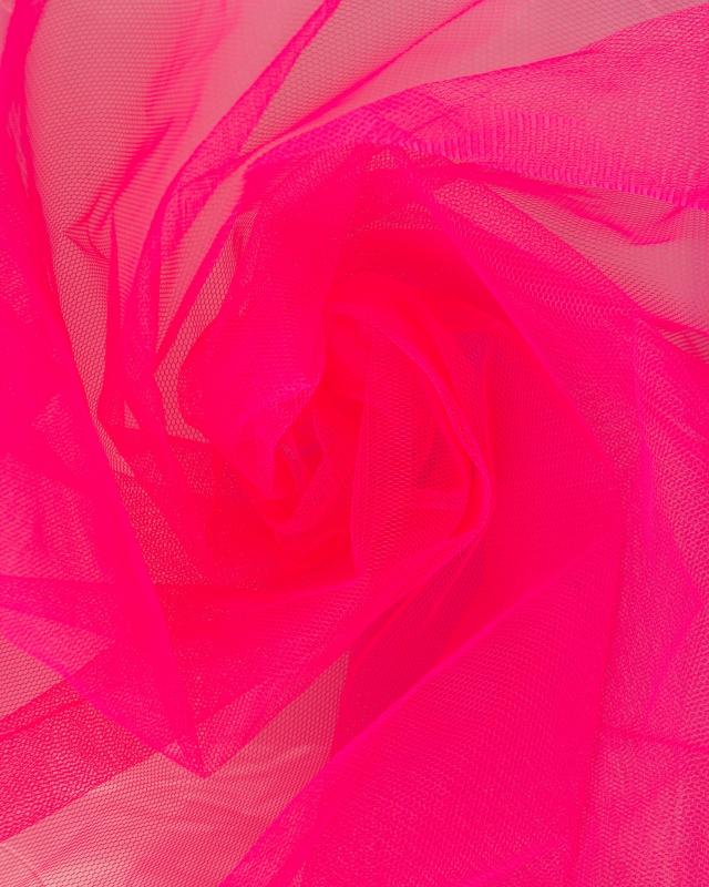 Tulle Raide Uni Rose Fluo - Tissushop