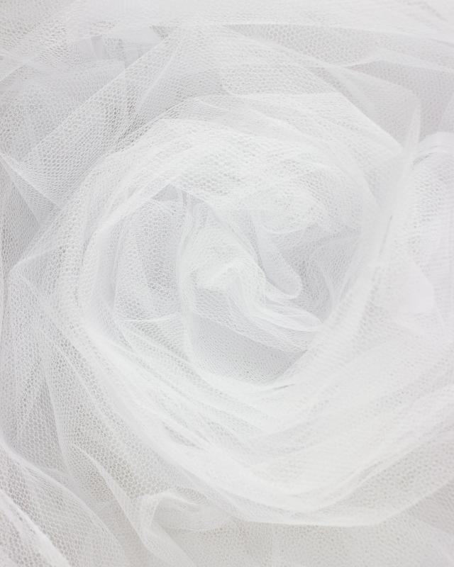 Tulle Raide Uni Blanc - Tissushop