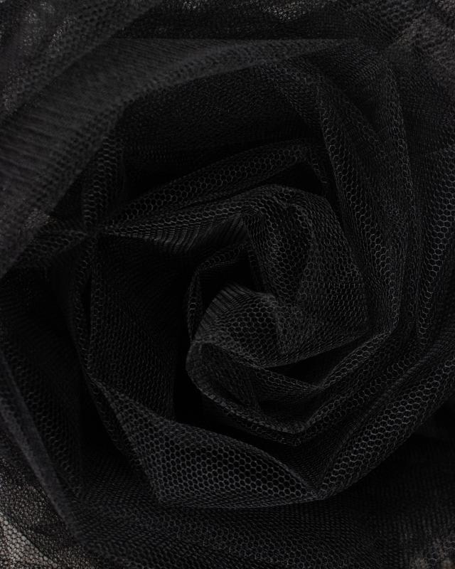 Tulle Raide Uni Noir - Tissushop