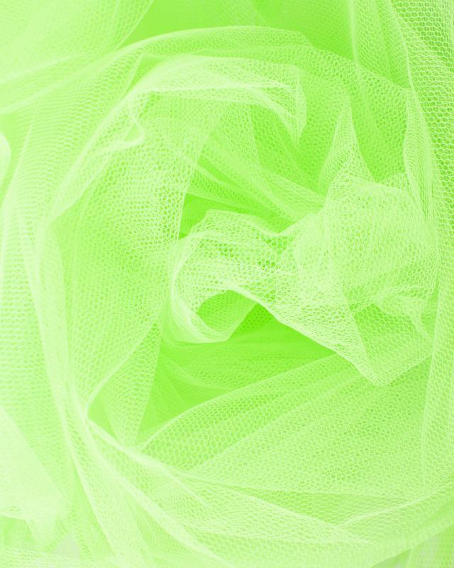 Tulle Raide Uni Vert Spring - Tissushop