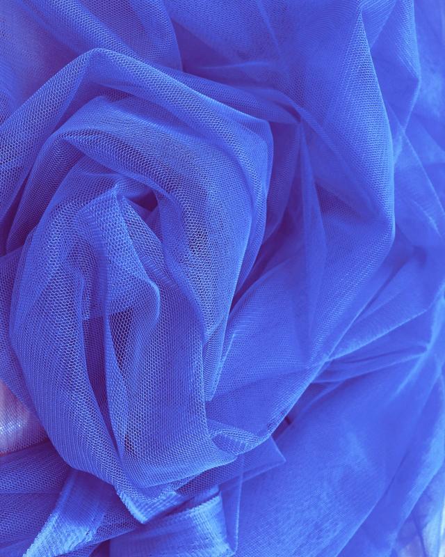 Tulle Souple Uni Bleu Azur - Tissushop
