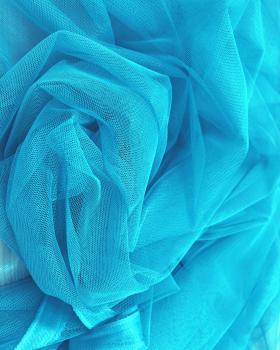 Tulle Souple Uni Bleu Turquoise - Tissushop
