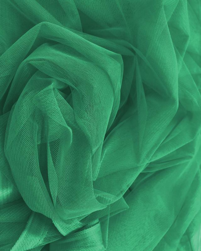Tulle Souple Uni Vert Sapin - Tissushop