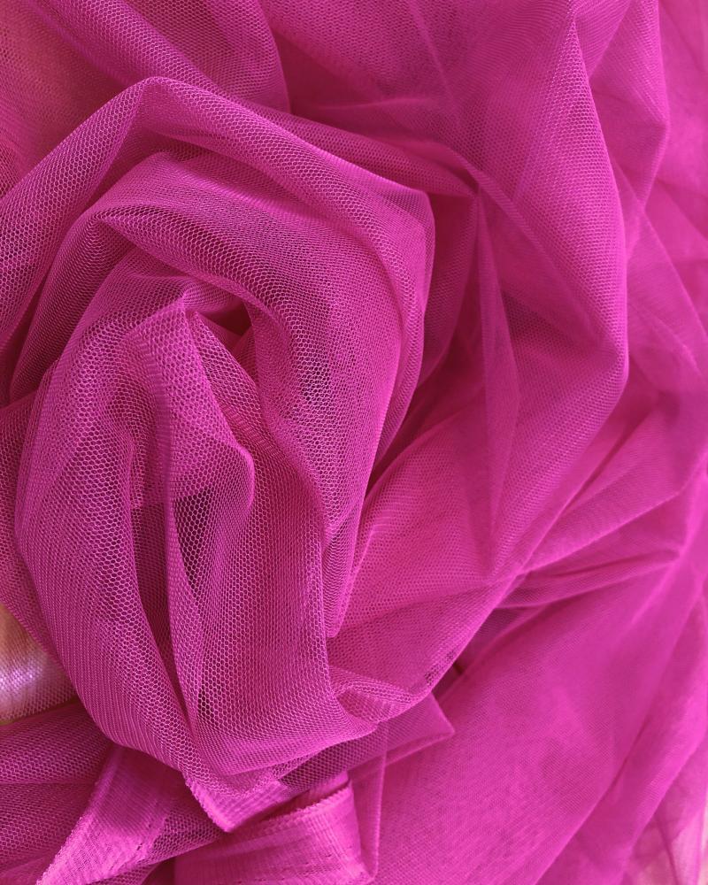 Tulle Souple Uni Rose - Tissushop