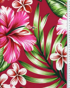 Tissu Polynésien AVERA Rouge - Tissushop