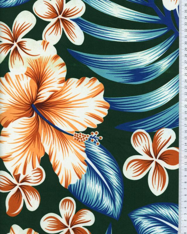 Polynesian Fabric AVERA Green - Tissushop