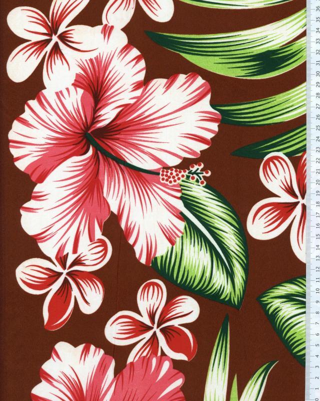 Polynesian Fabric AVERA Brown - Tissushop
