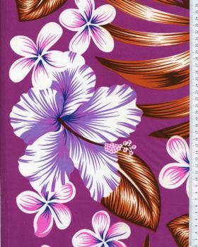 Polynesian Fabric AVERA Purple - Tissushop