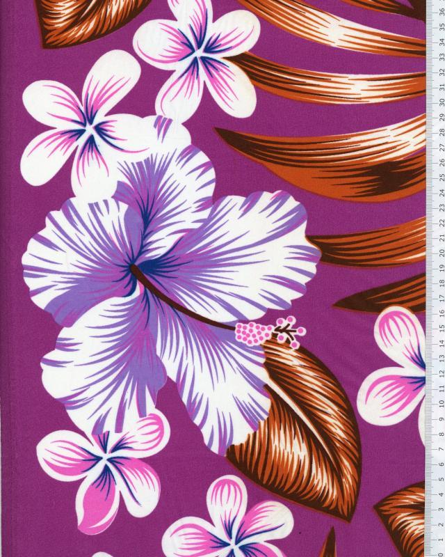 Tissu Polynésien AVERA Violet - Tissushop