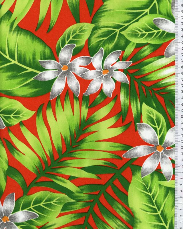 Polynesian Fabric ANAPA Red - Tissushop