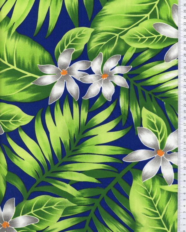 Tissu Polynésien ANAPA Bleu - Tissushop