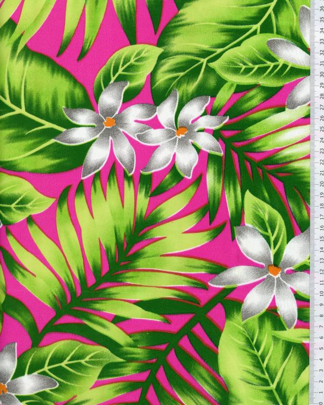 Tissu Polynésien ANAPA Rose - Tissushop