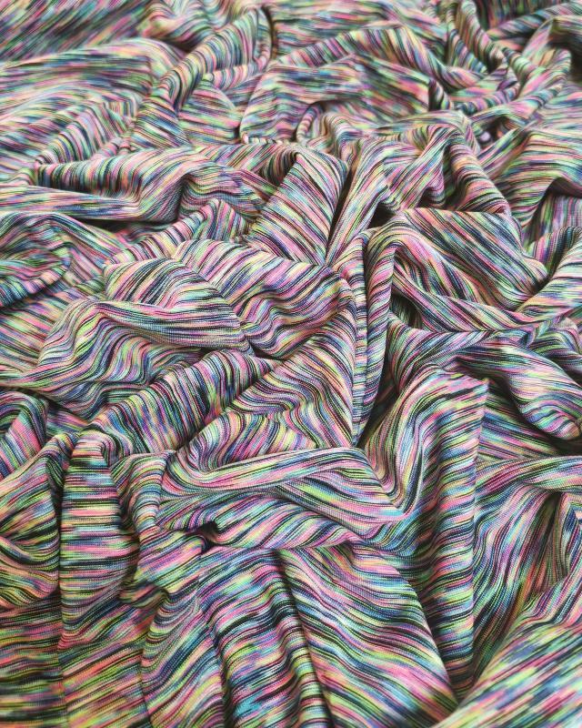 Jersey stretch Abstrait Multicolore - Tissushop