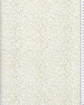 Jersey à paillettes or sur fond Blanc - Tissushop