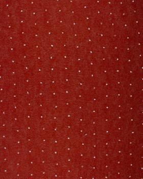 White dots wool effect - background Rust - Tissushop