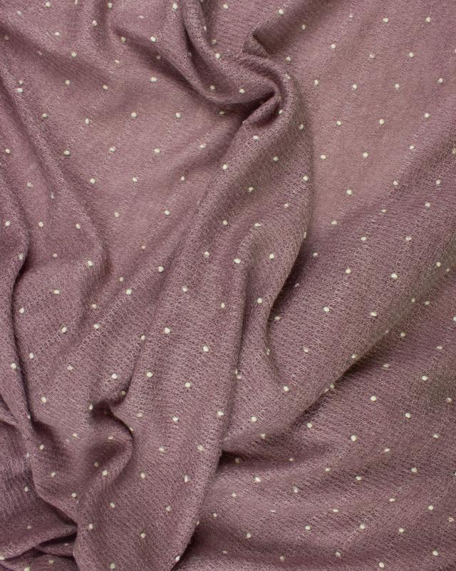 White dots wool effect - background Old Pink - Tissushop