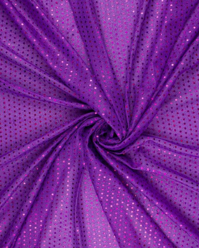 Round Glitter Fabric Purple - Tissushop