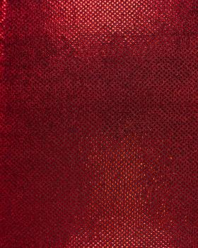 Round Sequined Fabric Red - Tissushop