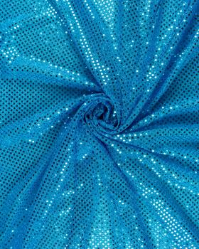 Round Sequined Fabric Turquoise Blue - Tissushop