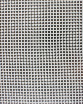 Round Sequined Fabric Silvery - Tissushop