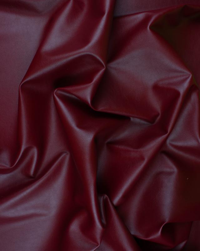 Imitation Leather Bordeaux - Tissushop