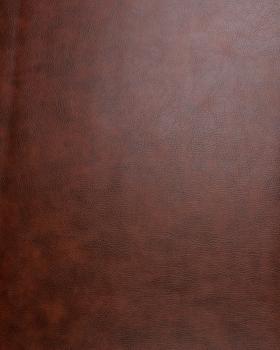 Simili Cuir grain moyen Marron Foncé - Tissushop