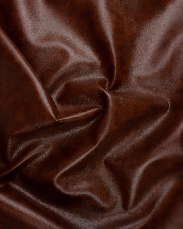 Imitation Leather Medium Grain Dark Brown - Tissushop