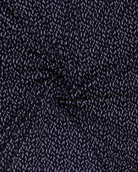 Viscose Grain Navy Blue - Tissushop