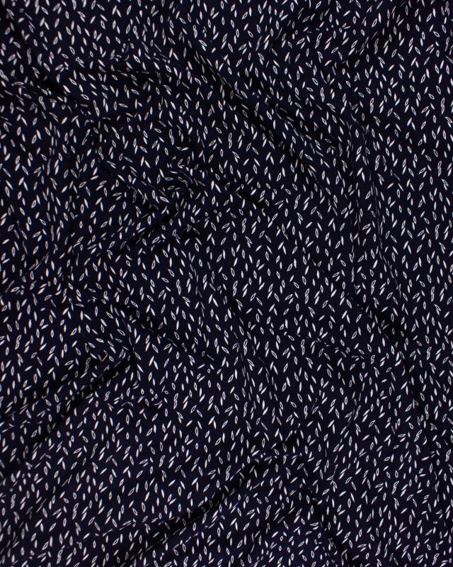 Viscose Grain Bleu Marine - Tissushop