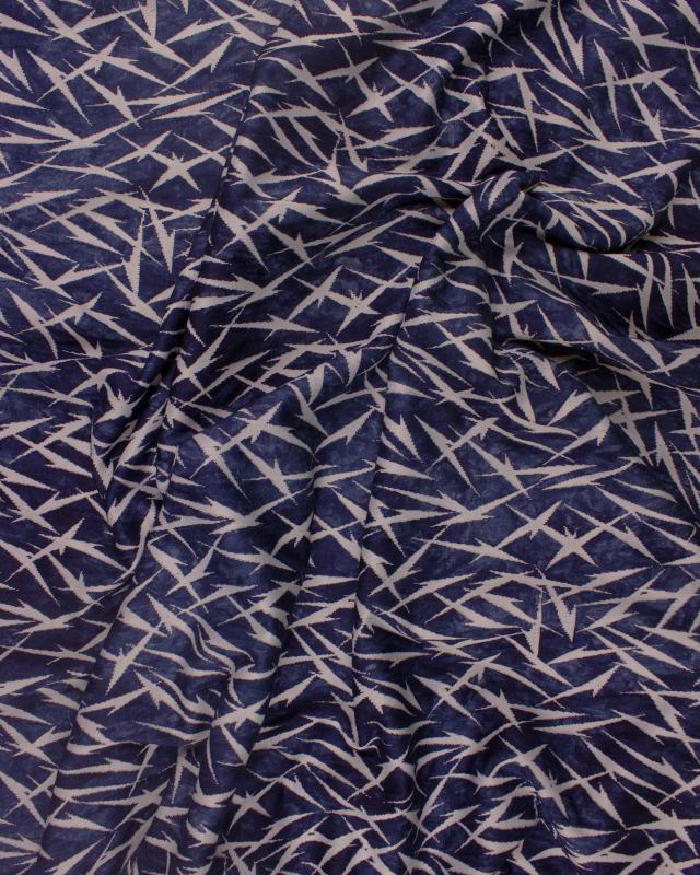 Viscose Étincelle / Bleu - Tissushop
