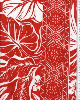 Tissu Polynesian ATERA Rouge - Tissushop