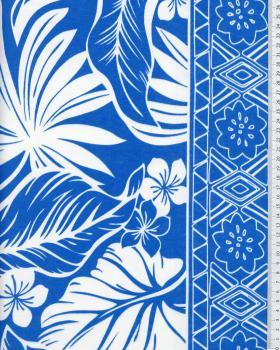 Tissu Polynesian ATERA Bleu - Tissushop