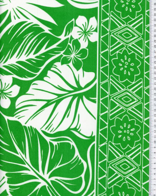 Polynesian Fabric ATERA Green - Tissushop