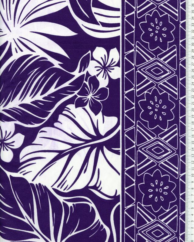 Polynesian Fabric ATERA Purple - Tissushop