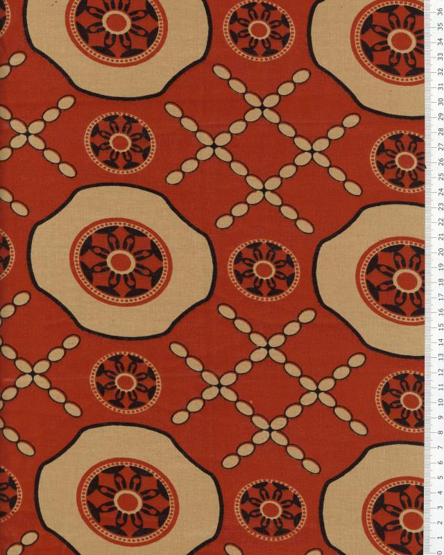 Real wax - African Fabric Kigali Orange - Tissushop